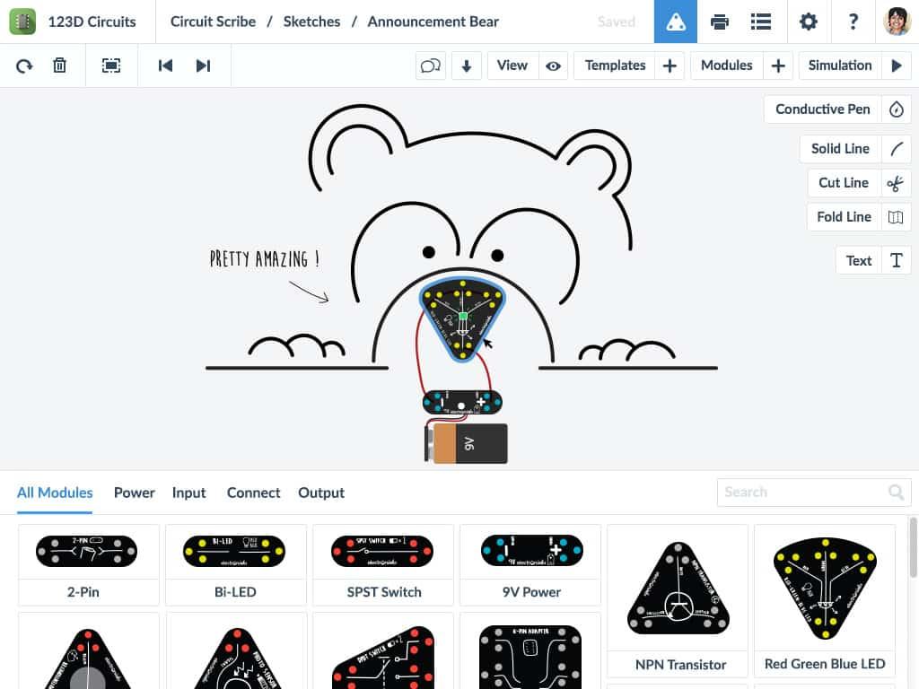 Novit Nellelettronica Circuit Scribe Per I Pcb Kickstarter Screen Circuitscribe Editor Sketchview 001